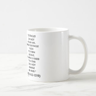 Obstacles Cannot Crush Me Fixed To A Star Quote Classic White Coffee Mug