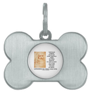 Obstacles Cannot Crush Me Fixed To A Star Quote Pet Name Tags