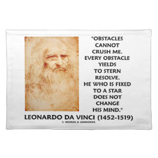 Obstacles Cannot Crush Me Fixed To A Star Quote Placemat
