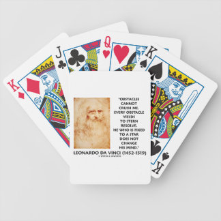 Obstacles Cannot Crush Me Fixed To A Star Quote Bicycle Poker Deck