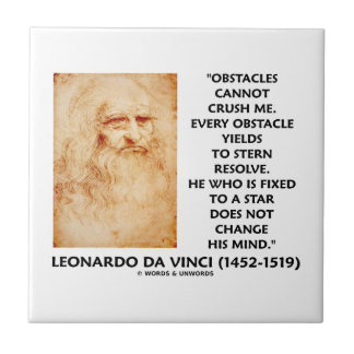 Obstacles Cannot Crush Me Fixed To A Star Quote Small Square Tile