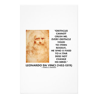 Obstacles Cannot Crush Me Fixed To A Star Quote Custom Stationery