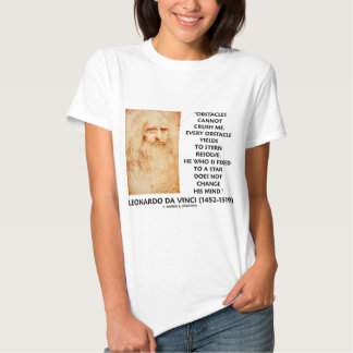 Obstacles Cannot Crush Me Fixed To A Star Quote T Shirt