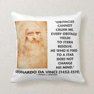Obstacles Cannot Crush Me Fixed To A Star Quote Throw Pillow