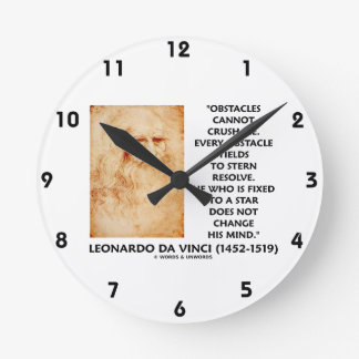 Obstacles Cannot Crush Me Fixed To A Star Quote Wallclock