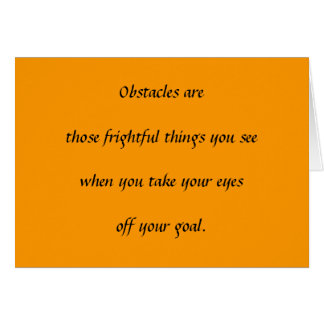 Obstacles Greeting Card