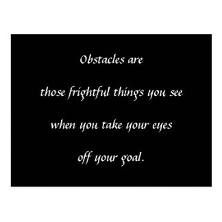Obstacles Postcard