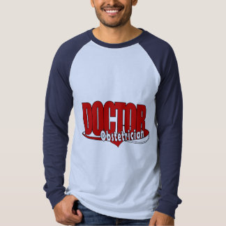 OBSTETRICIAN LOGO BIG RED DOCTOR T SHIRT