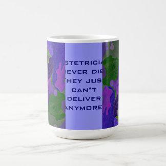 Obstetricians humor basic white mug