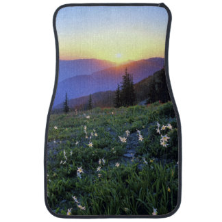 Obstruciton Point Sunset, Olympic NP, WA, USA Car Mat
