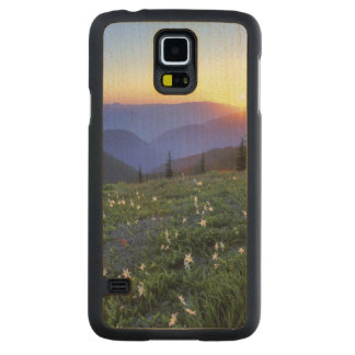 Obstruciton Point Sunset, Olympic NP, WA, USA Maple Galaxy S5 Slim Case