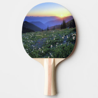 Obstruciton Point Sunset, Olympic NP, WA, USA Ping Pong Paddle