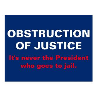 Obstruction of Justice Jail Time Postcard