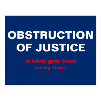 Obstruction of Justice Trump White House Postcard