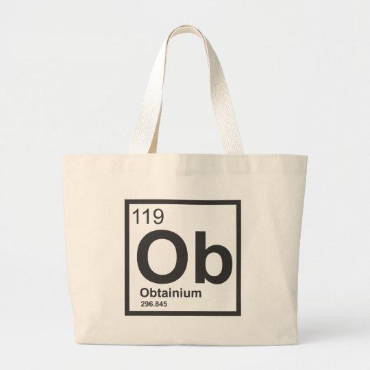 Obtainium Logo Large Tote Bag