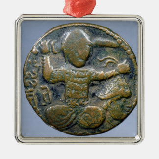 Obverse of coin depicting helmeted Turk Christmas Ornament