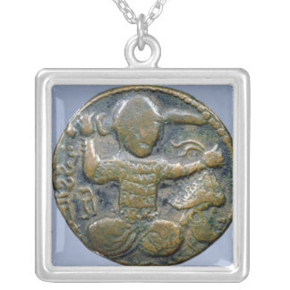 Obverse of coin depicting helmeted Turk Silver Plated Necklace