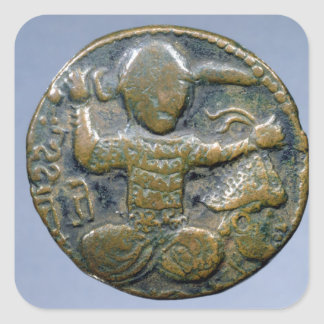 Obverse of coin depicting helmeted Turk Stickers