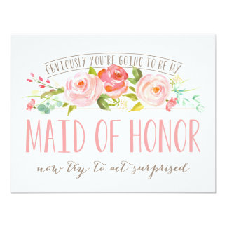 Obviously Maid Of Honor Rose Garden Card 11 Cm X 14 Cm Invitation Card
