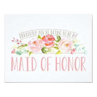 Obviously my Maid of Honor Rose Garden Card