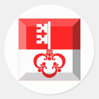 Obwalden Flag Gem Round Sticker