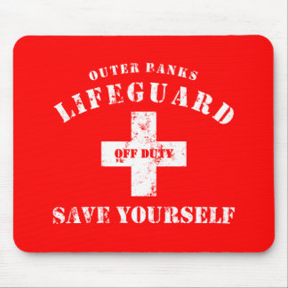 OBX lifeguard off duty save yourself Mousepads