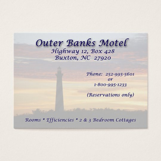 OBX Motel BC Business Card