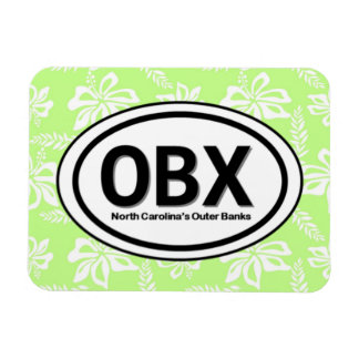 OBX Outer Banks NC Green Magnet