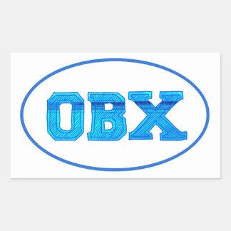 OBX Outer Banks Rectangular Sticker