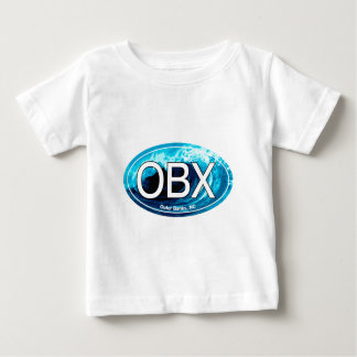 OBX Outer Banks Wave Oval Baby T-Shirt