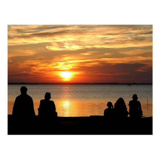 OBX Sunset Watch Postcard