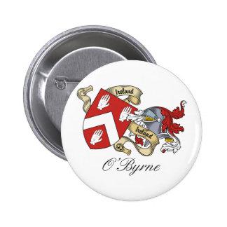O'Byrne Family Crest 6 Cm Round Badge