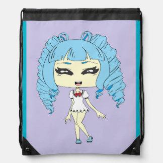 OC- Anime Chibi Drawstring Bags