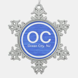 OC Ocean City NJ Beach Ornament