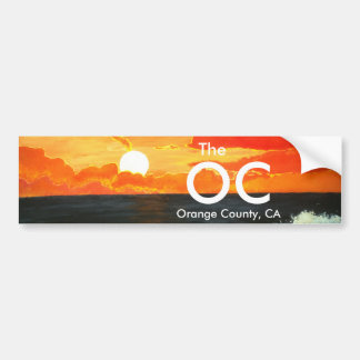 OC Orange County California Bumper Sticker Art Car Bumper Sticker