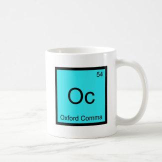 Oc - Oxford Comma Grammar Chemistry Symbol Coffee Mug