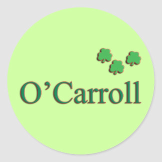 O'Carroll Family Round Sticker