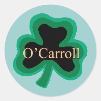 O'Carroll Irish Round Stickers