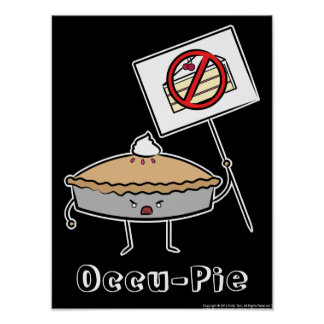 Occu-Pie Poster (Black)