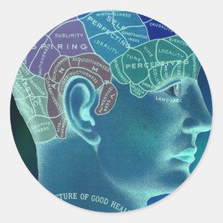 Occult Collection - Phrenology Round Sticker