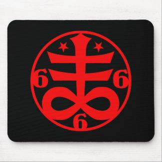 Occult Goth Satanic Cross Symbol Mouse Pad