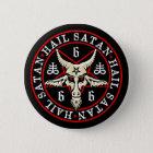 Occult Hail Satan Baphomet Goat in Pentagram 6 Cm Round Badge