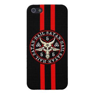 Occult Hail Satan Baphomet Goat in Pentagram Cover For iPhone 5/5S