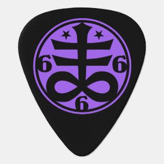 Occult Satanic Cross Black Magick & Satanism Guitar Pick