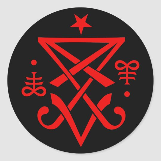 Occult Sigil Of Lucifer Satanic Classic Round Sticker