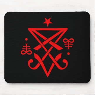 Occult Sigil of Lucifer Satanic Mouse Pad