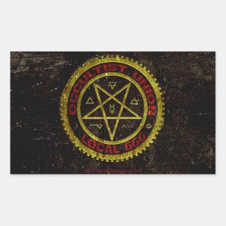 OCCULTIST UNION LOCAL 666    019 RECTANGULAR STICKER