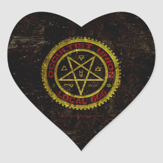 OCCULTIST UNION LOCAL 666    019 HEART STICKERS