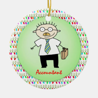 Occupation Accountant Guy Funny  Personalized Christmas Ornament