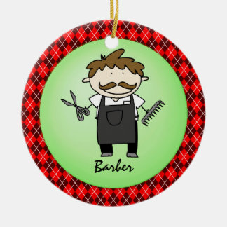 Occupation Barber  Christmas Personalized Christmas Ornament